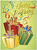 Glitter Gifts Birthday Card A2011G-W