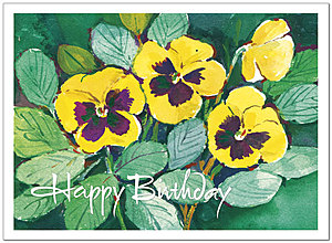 Pansies Birthday Card A2025U-Y