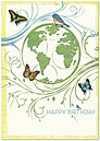 Living World Birthday Card A2035KW-X