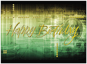 Money Collage Birthday Card A2039U-X