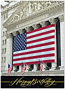 Patriotic Wall Street Birthday Card A2040U-X