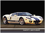 Ford GT Birthday Card A2053U-X