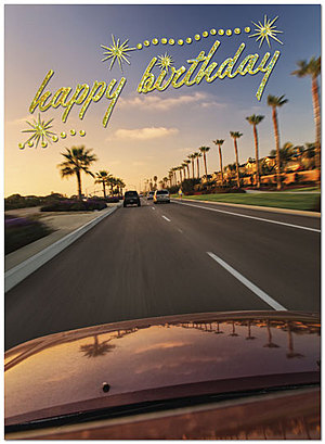 California Cruisin' Birthday Card A2054U-X