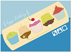 Birthday Bandage Card A2069U-Y
