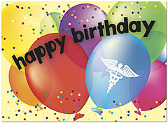 Medical Balloons Birthday Card A2070U-Y