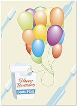 Birthday Floss Card A2071U-Y