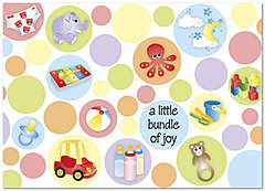 Bundle of Joy Congratulations Card A2072D-Y