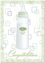 Baby Welcome Card A2073D-Y
