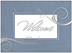 Stylish Welcome Card A2076U-X