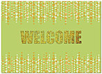 Welcome Glitz Card A2077D-X