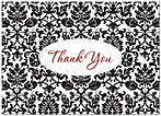Damask Thank You Card A2086D-X