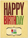 Rustic Birthday Logo Card D2093U-V
