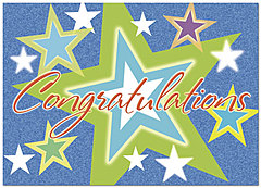 Bright Stars Congratulations Card D2100D-Y
