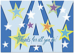 YAY Blue Greeting Card D2103D-Y