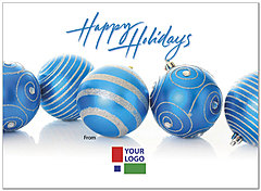 Blue Ornaments Logo Card D2212U-4B