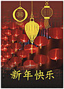 Chinese Lantern New Year Card D2224R-Y