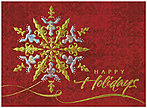 Golden Sparkle Snowflake Holiday Card H2170G-AAA
