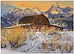 Sunset Barn Holiday Card H2171S-AAA
