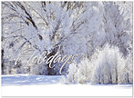 Winter Morning Holiday Card H2172S-AAA