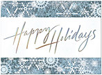 Snowflake Border Holiday Card H2179U-AA