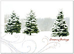 Season's Swirl Holiday Card H2181U-AA