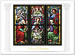 Stained Glass Christmas Card H2185U-AA