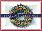 Patriotic Wreath Holiday Card H2186U-AA