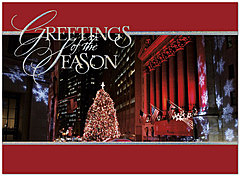 Wall Street Sparkle Holiday Card H2187U-AA