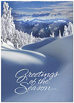 Snow Covered Slope Holiday Card H2196D-AA