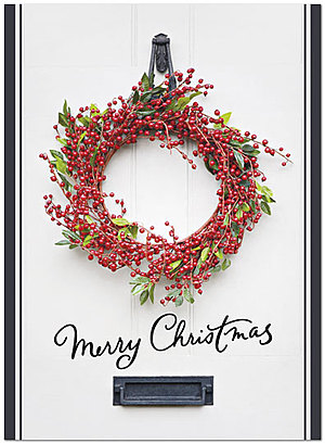 Christmas Wreath Holiday Card H2201U-A