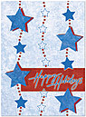 Holiday Star Garland Card H2202U-A
