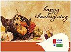 Thanksgiving Bounty Logo Card D2120U-4B