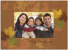Leaf Frame Photo Card D2122U-4B