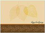 Translucent Leaves Thanksgiving Card H2112U-A
