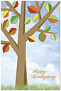 Season's Colors Thanksgiving Postcard H2115P-B