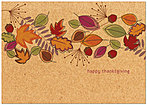 Swirling Leaves Thanksgiving Card H2116KW-AA