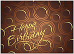 Abstract Circles Birthday Card A3000G-W