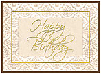 Elegant Birthday Card A3001G-W