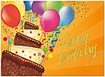 Party Cake Birthday Card A3003G-W