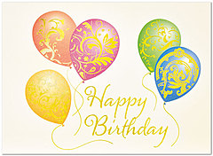 Patterned Balloons Birthday Card A3005G-4W