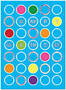 Colorful Dots Birthday Card A3010S-W