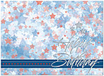 Patriotic Stars Birthday Card A3013U-X