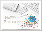 Office Birthday Card A3014U-X