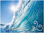 Catch a Wave Birthday Card A3016U-X