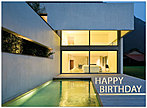Modern Home Birthday Card A3017U-X