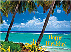 Beach Birthday Card A3018U-X
