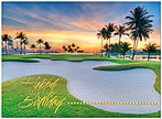Sunset Green Birthday Card A3020U-X