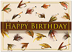 Fly Fishing Birthday Card A3021U-X