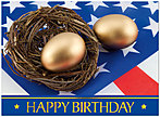 USA Nest Egg Birthday Card A3024U-X