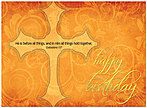 Cross Birthday Card A3025U-X